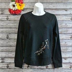 A New Day | Sequin Dragonfly Any Day Pullover | S